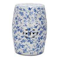 Safavieh Blue Birds Ceramic Garden Stool