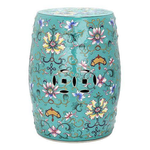 Astounding Safavieh Water Lily Ceramic Garden Stool Ncnpc Chair Design For Home Ncnpcorg