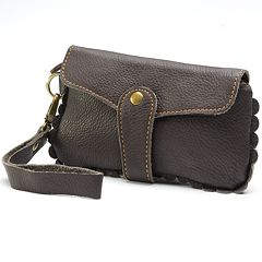 AmeriLeather Emi Scalloped Wristlet