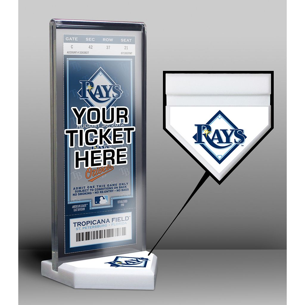 Tampa Bay Rays Home Plate Ticket Display Stand