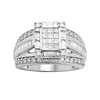 Diamond Engagement Ring in 10k White Gold (1 ctT.W.)
