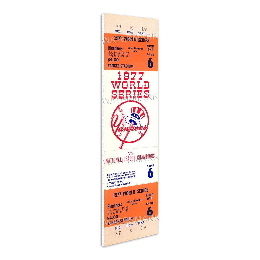 New York Yankees 1977 World Series Mega Ticket