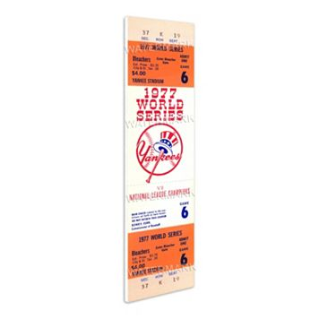 New York Yankees 1977 World Series Mega Ticket