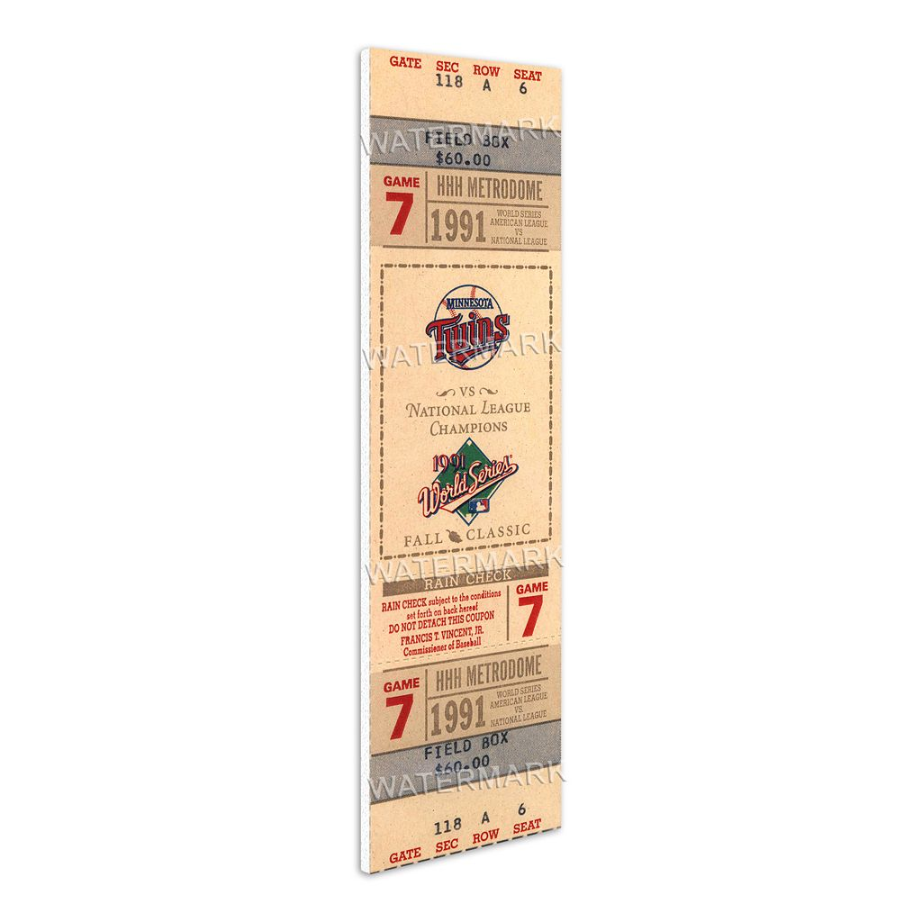 Minnesota Twins 1991 World Series Mega Ticket