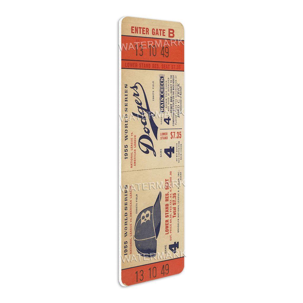 Brooklyn Dodgers 1955 World Series Mega Ticket
