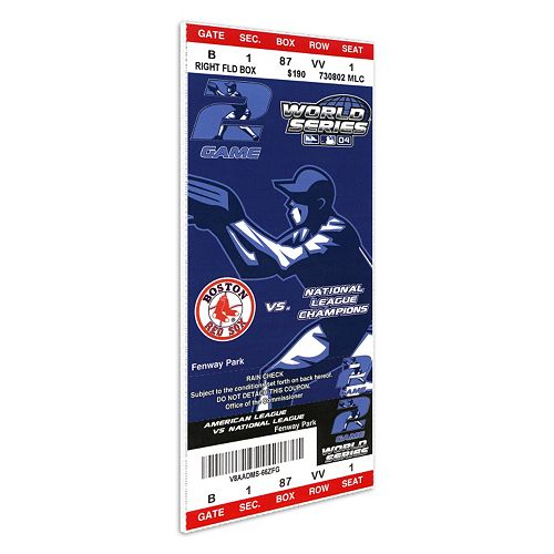 Boston Red Sox 2004 World Series Mini Mega Ticket