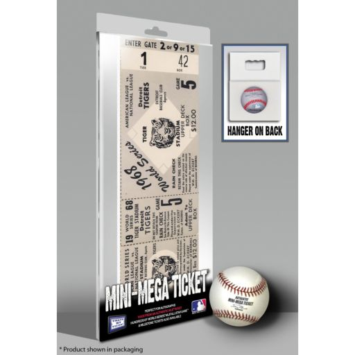 Detroit Tigers 1968 World Series Mini Mega Ticket
