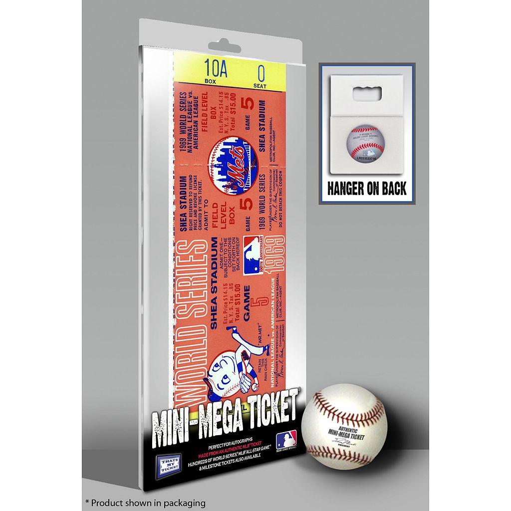 New York Mets 1969 World Series Mini Mega Ticket