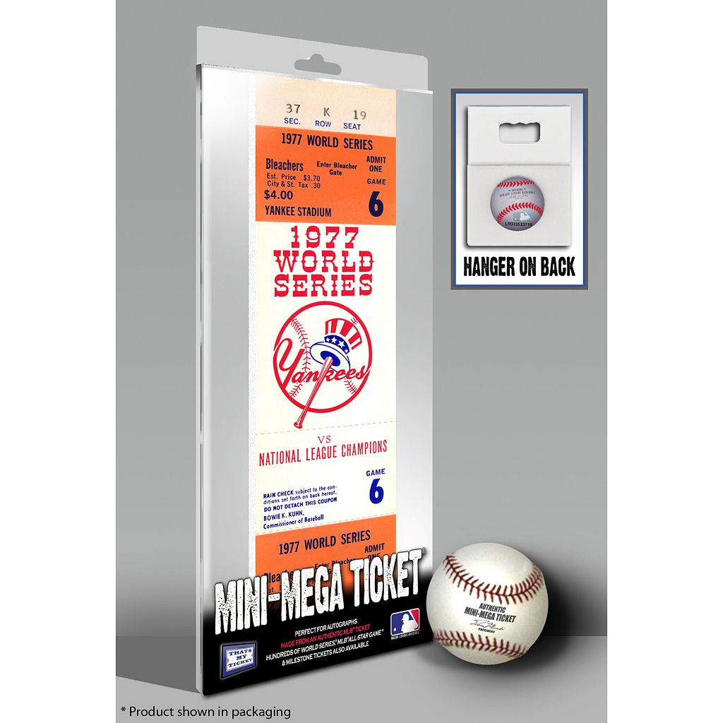 New York Yankees 1977 World Series Mini Mega Ticket