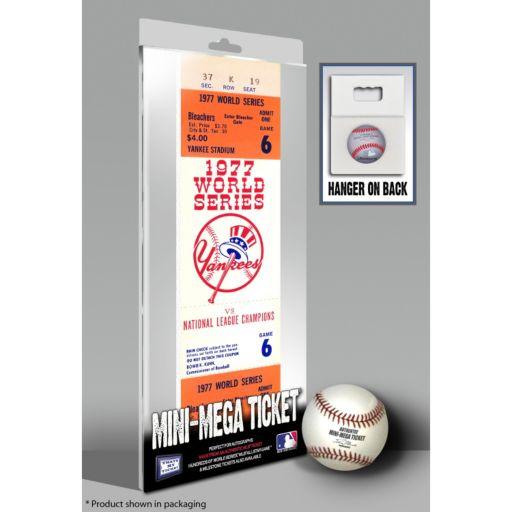 New York Yankees 1977 World Series Mini Mega Ticket