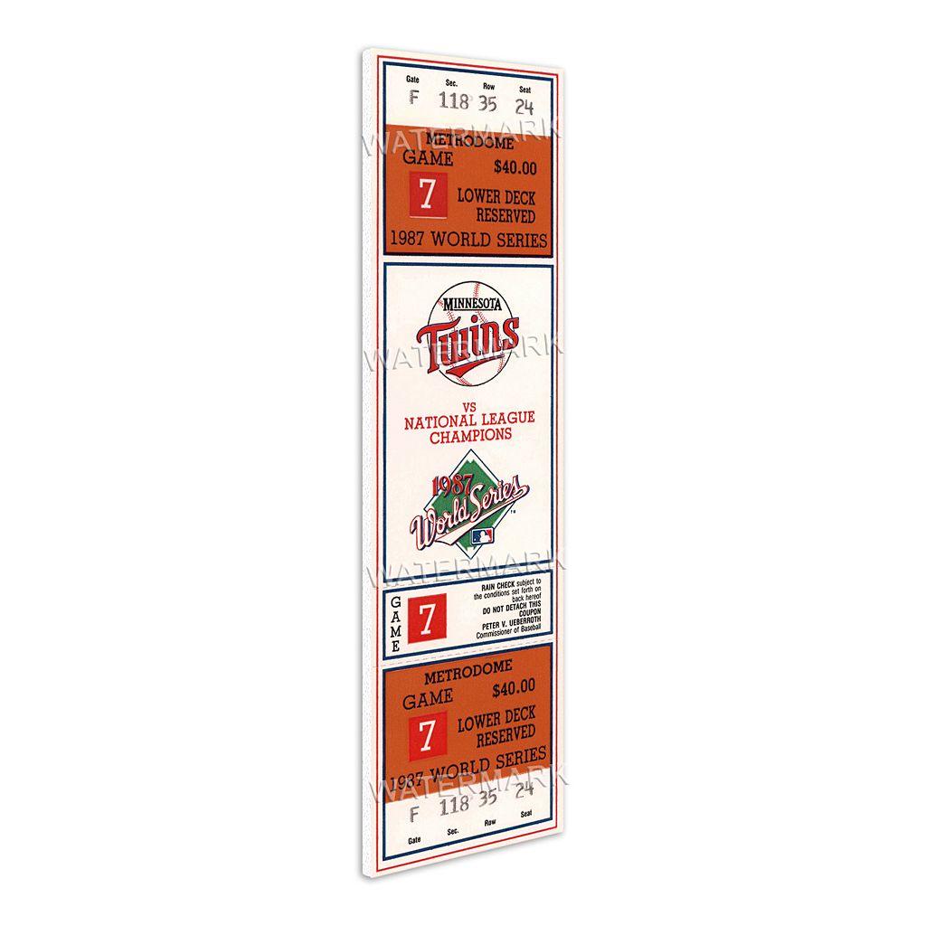 Minnesota Twins 1987 World Series Mini Mega Ticket