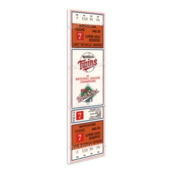 Minnesota Twins 1987 World Series Mini Mega Ticket