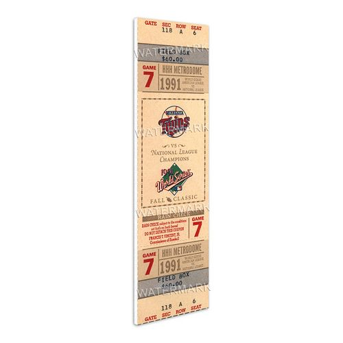 Minnesota Twins 1991 World Series Mini Mega Ticket