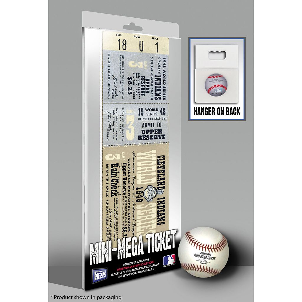 Cleveland Indians 1948 World Series Mini Mega Ticket