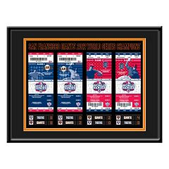 San Francisco Giants 2012 World Series Tickets To History Framed Print