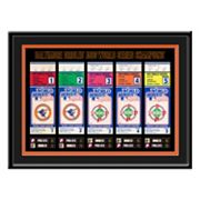 Baltimore Orioles 1983 World Series Tickets To History Framed Print