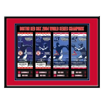 Boston Red Sox 2004 World Series Tickets To History Framed Print