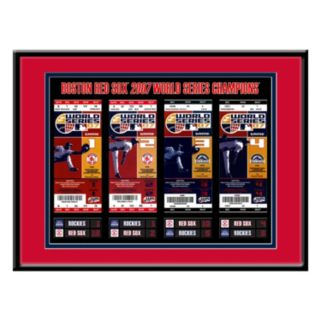 Boston Red Sox 2007 World Series Tickets To History Framed Print
