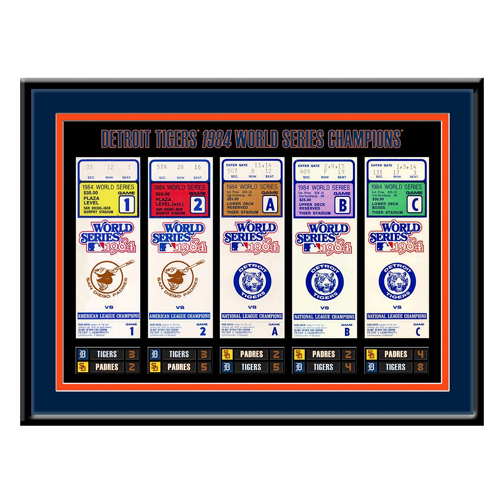 Detroit Tigers 1984 World Series Tickets To History Framed Print