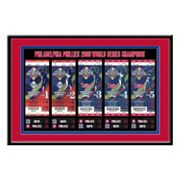 Philadelphia Phillies 2008 World Series Tickets To History Framed Print