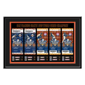 San Francisco Giants 2010 World Series Tickets To History Framed Print