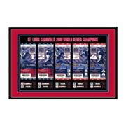 St. Louis Cardinals 2006 World Series Tickets To History Framed Print