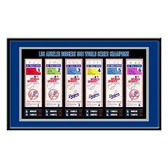 Los Angeles Dodgers 1981 World Series Tickets To History Framed Print