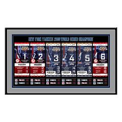 New York Yankees 2009 World Series Tickets To History Framed Print