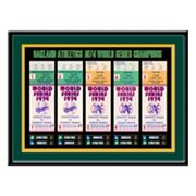 Oakland Athletics 1974 World Series Tickets To History Framed Print