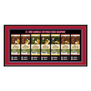 St. Louis Cardinals 2011 World Series Tickets To History Framed Print