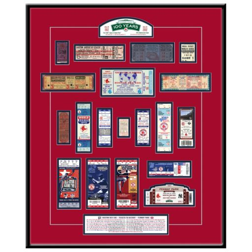 Boston Red Sox Fenway Park 100th Anniversary Tickets To History Framed Print
