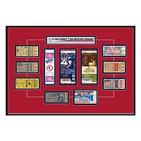 St. Louis Cardinals 11 World Series Champions Tickets To History Framed Print