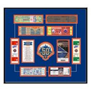 New York Mets 50th Anniversary Tickets To History Framed Print