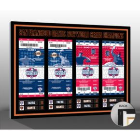 San Francisco Giants 2012 World Series Tickets To History Canvas Print