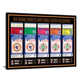 Baltimore Orioles 1983 World Series Tickets To History Canvas Print