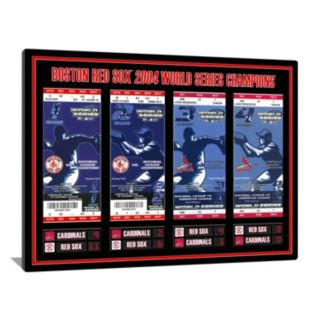 Boston Red Sox 2004 World Series Tickets To History Canvas Print