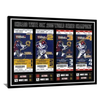 Chicago White Sox 2005 World Series Tickets to History Canvas Print
