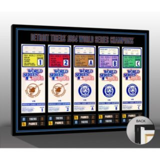 Detroit Tigers 1984 World Series Tickets To History Canvas Print