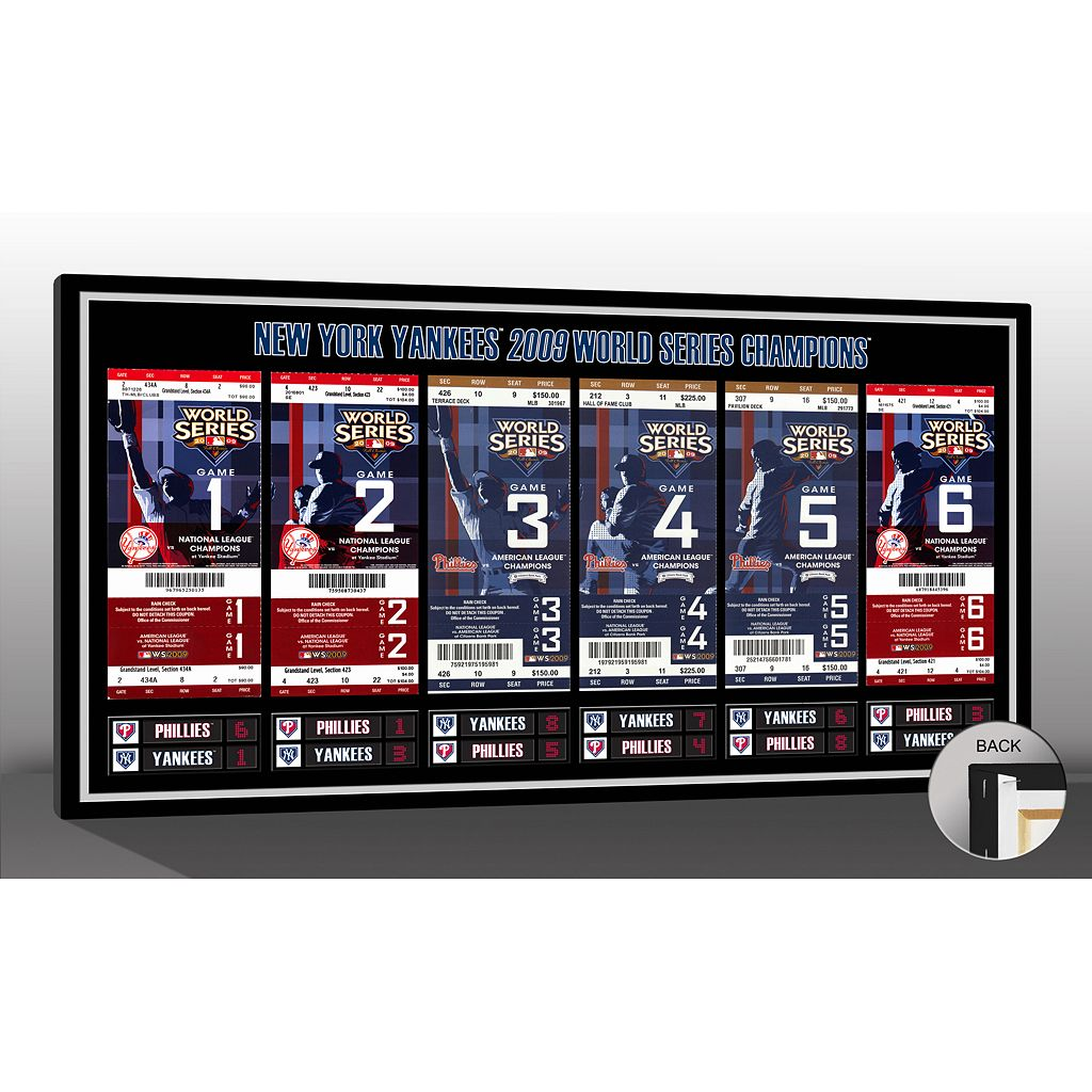 New York Yankees 2009 World Series Tickets To History Canvas Print