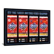 New York Yankees 1998 World Series Tickets To History Canvas Print