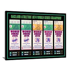 Oakland Athletics 1974 World Series Tickets To History Canvas Print