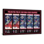 Philadelphia Phillies 2008 World Series Tickets To History Canvas Print