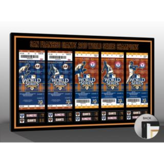 San Francisco Giants 2010 World Series Tickets To History Canvas Print