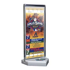 Arizona Diamondbacks 2001 World Series Commemorative Ticket Desktop Display