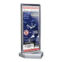 Boston Red Sox 2004 World Series Commemorative Ticket Desktop Display