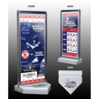 Boston Red Sox 2004 World Series Commemorative Ticket Desktop Display