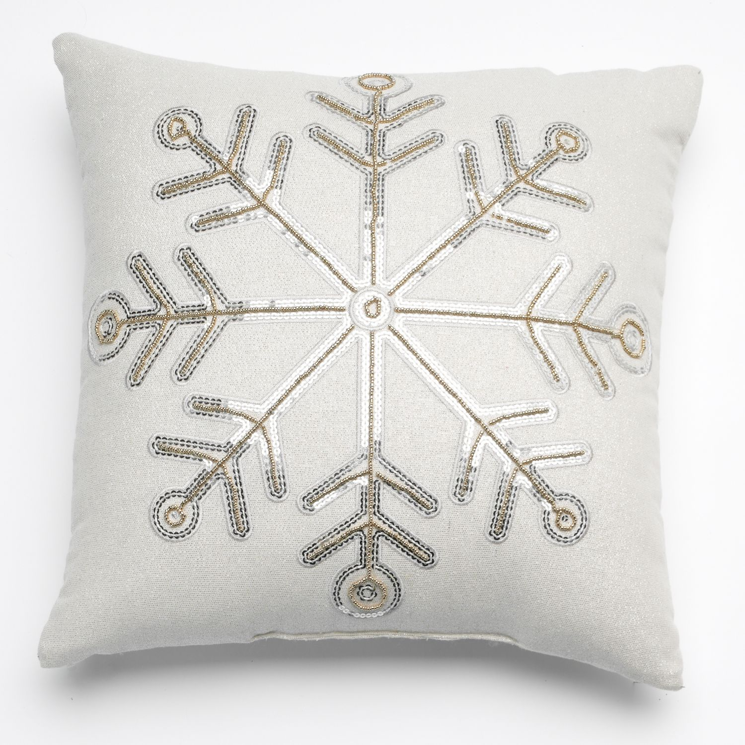 Decorative Pillows At Kohls : St. Nicholas Square Christmas Snowflake Decorative Pillow - $1...