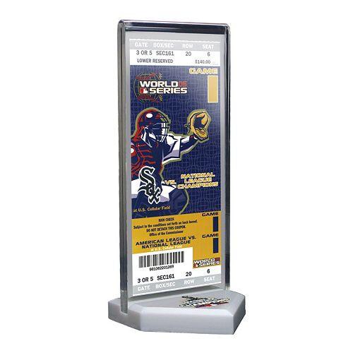 Chicago White Sox 2005 World Series Commemorative Ticket Desktop Display