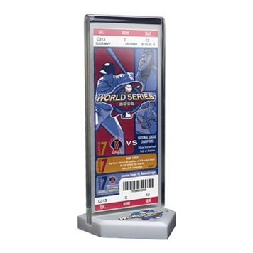 Los Angeles Angels of Anaheim 2002 World Series Commemorative Ticket Desktop Display