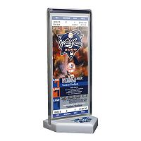 New York Yankees 2000 World Series Commemorative Ticket Desktop Display